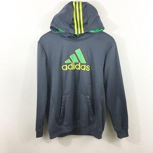 ADIDAS Boys Grey Sweatshirt with Hoodie Size